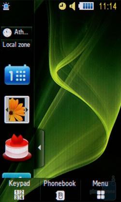 Samsung Beat DJ M7600 user interface