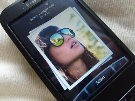 HTC Hero ROM on G1 showing new gallery