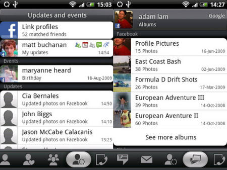HTC Sense Facebook Integration