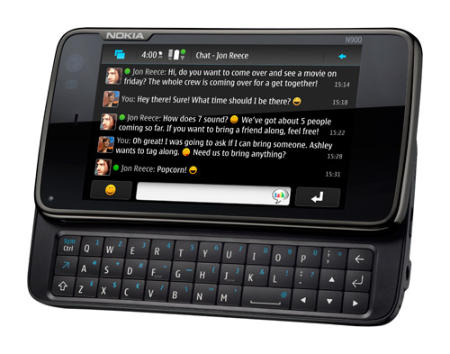 Nokia N900 smartphone with QWERTY keyboard