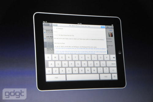 Apple iPad and virtual keypad