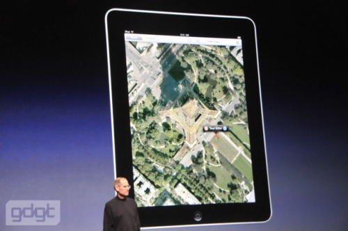 Apple iPad showing Google maps