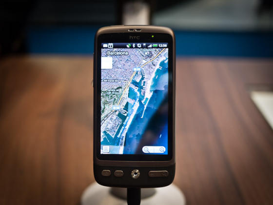 HTC Desire with Google Maps