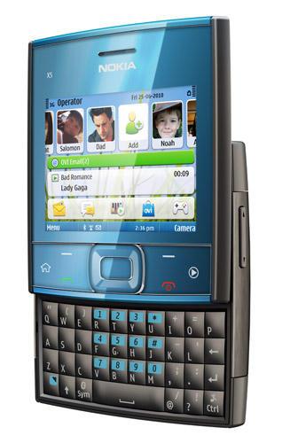 Nokia X5-01 music phone in blue