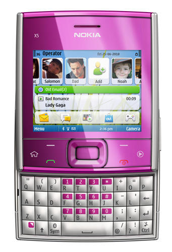 Nokia X5-01 in pink