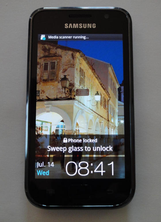 Samsung Galaxy S with Super-AMOLED screen