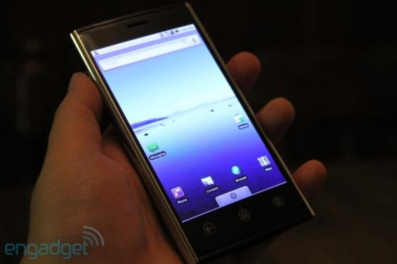 Dell Thunder smartphone's screen