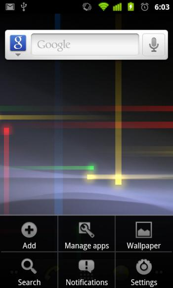 Android Gingerbread user interface
