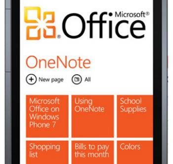 HTC 7 Pro Windows Phone 7 and Mobile Office