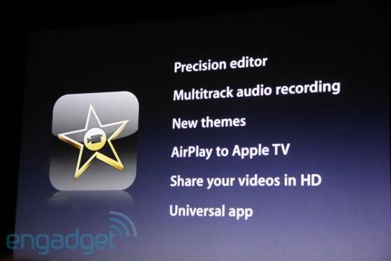 iPad2 and iMovie