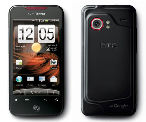 HTC Incredible showing back