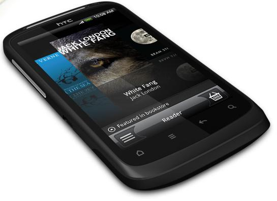HTC Desire S showing eBook
