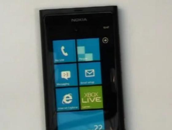 Nokia Sea-Ray Windows Phone 7 device