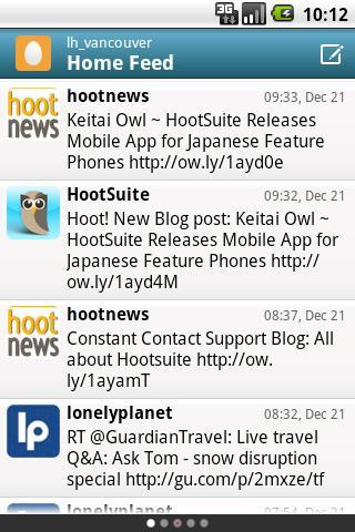 HootSuite Twitter app fro Android