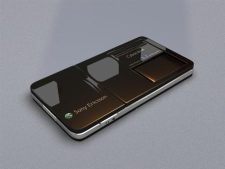 Sony Ericsson concept phone from the back