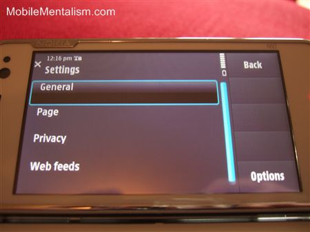 Nokia N97 smartphone with ugly user interface