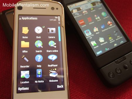 Nokia N97 interface vs T-Mobile G1