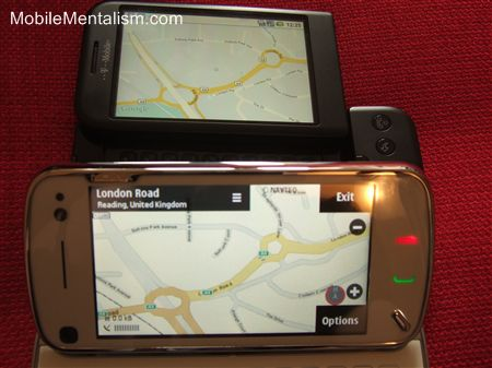 Nokia N97 maps vs Google Maps on the T-Mobile G1