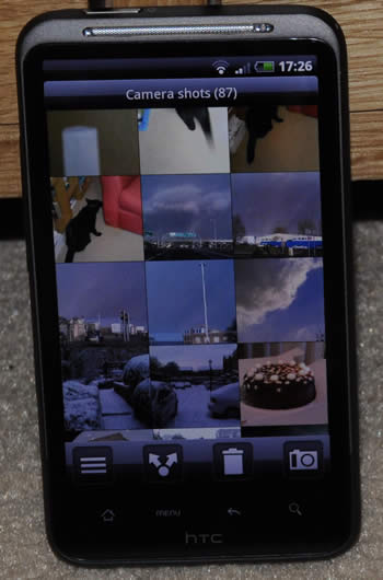 Gallery app on the HTC Desire HD