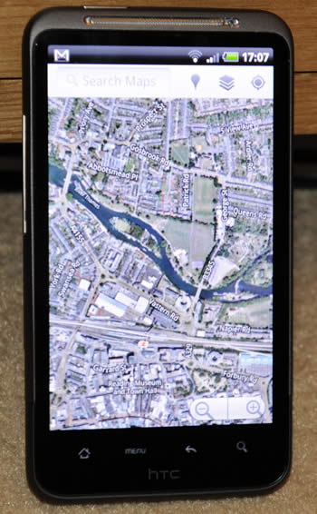HTC Desire HD Google maps