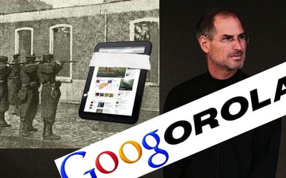 Google Motorola Steve Jobs and HP Touchpad